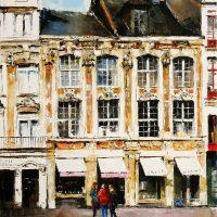 Tout au long des maisons de la rue esquermoise a Lille