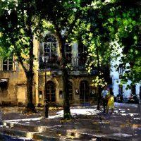Montmartre au théatre de L'Atelier 92×73 cms