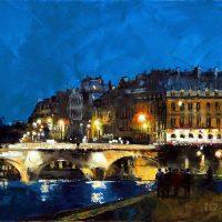 Quand Paris s'illumine 120×60 cms