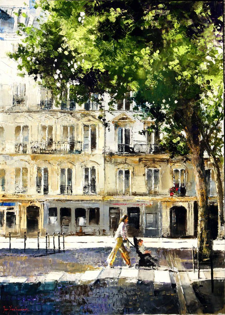 Par les rues de Montmartre 92x73 cms