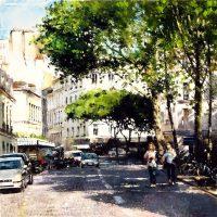 Paris aux Abbesses 80×80 cms
