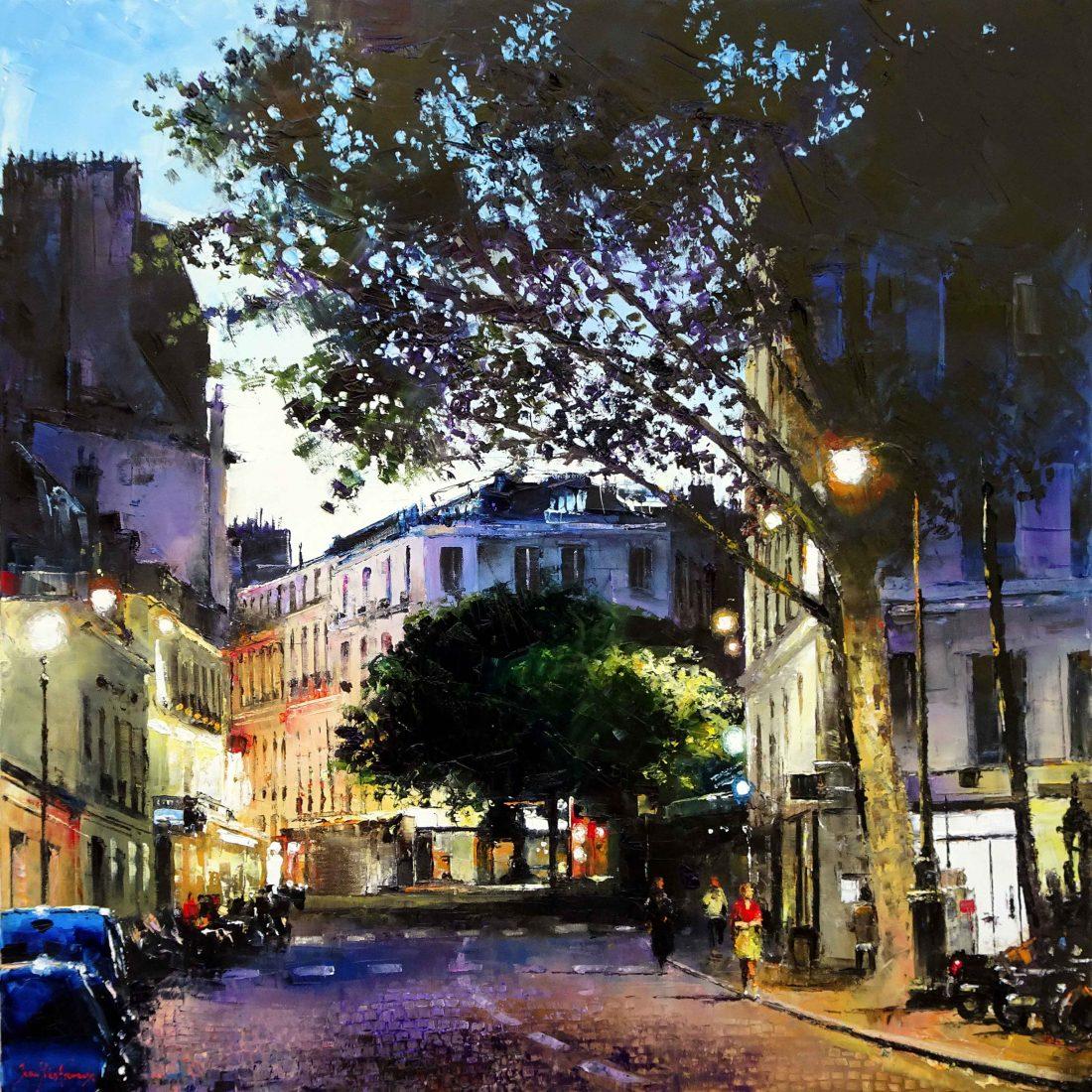 Les soirs de Paris aux Abbesses 90x90