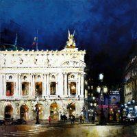Paris, les nuits au Palais Garnier 90x90cms