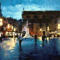Les soirs de Venise en passant par San Stefano 90×90 cms