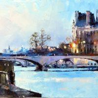 Paris, quand le Louvre s'illumine 120×40 cms