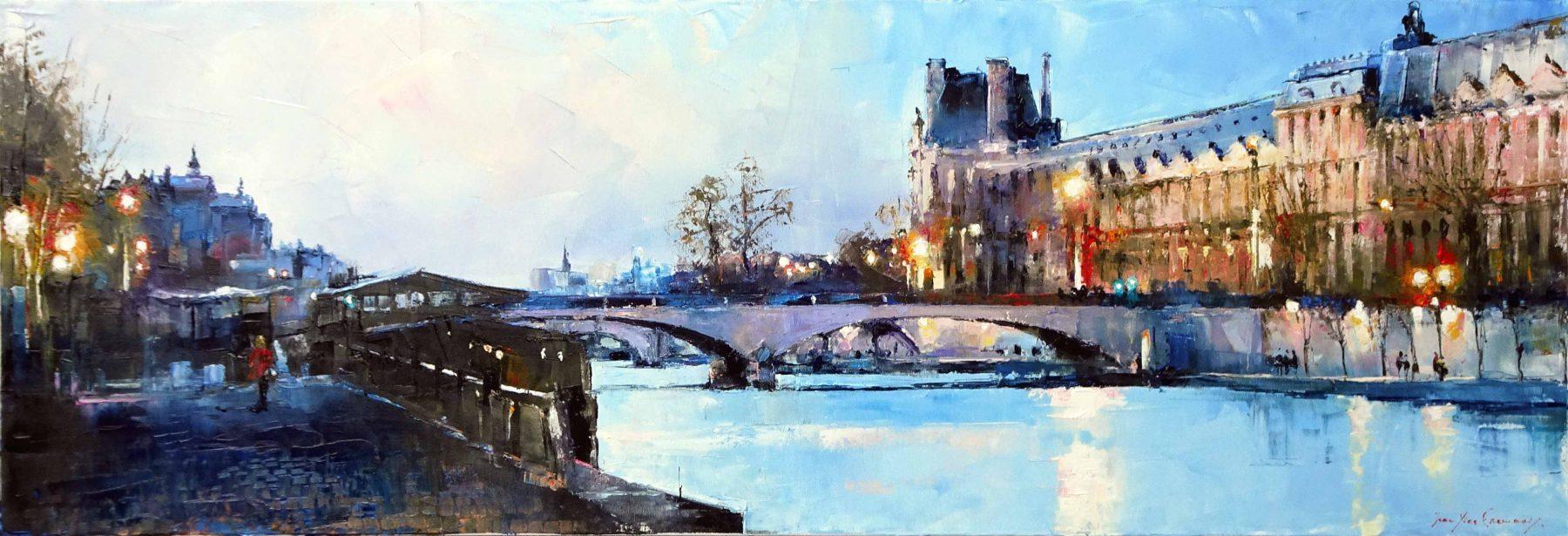 Paris, quand le Louvre s'illumine 120x40 2